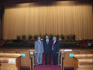 Vista del salón donde se reúnen los líderes del partido comunista chino para guiar la conducción de la ya más poderosa nación del mundo