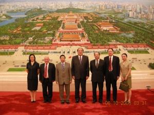En el palacio del pueblo de Beijing con representantes del parlamento chino