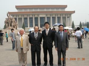 En la famosa Plaza de Tiananmen frente a la tumba de Mao