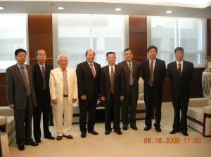 Con autoridades del municipio de Shenzhen y del parlamento chino