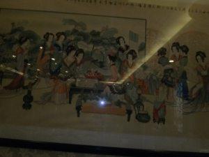 Pintura en el puerto de Ningbo sobre las tradiciones y cultura china