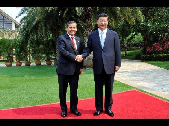 Presidente Humala y Xi Jing Ping
