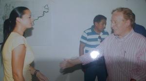 Recibimiento a la líder vicepresidenta del parlamento Marcela Aguinaga