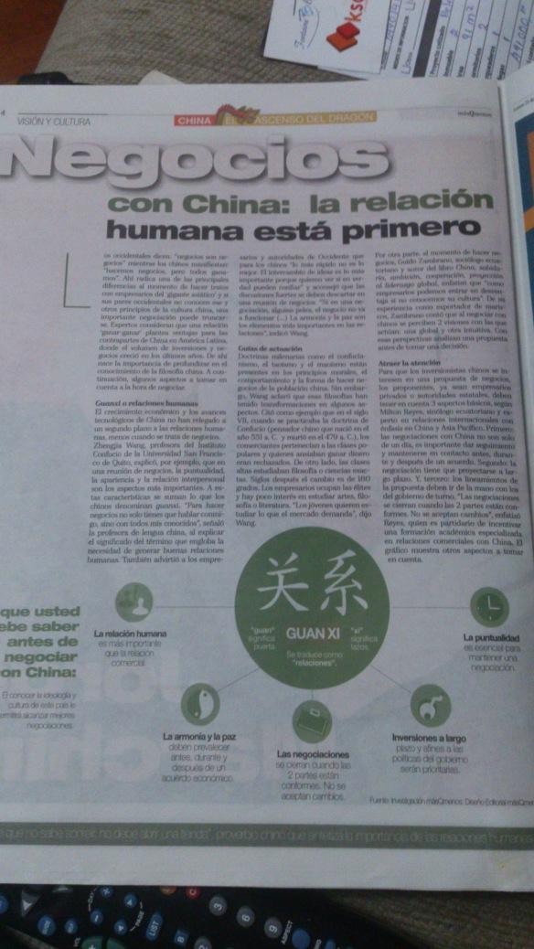 Reportaje especial del Telégrafo sobre China