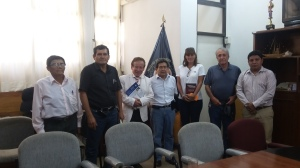 Con el Ing Edwin Guaman  y la esposa del gobernador del departamento