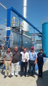 Una gran fabrica con Rocio Vasquez de Peru pesquero